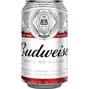 Budweiser beer in a can
