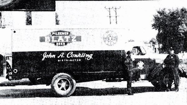 Beer distribution truck